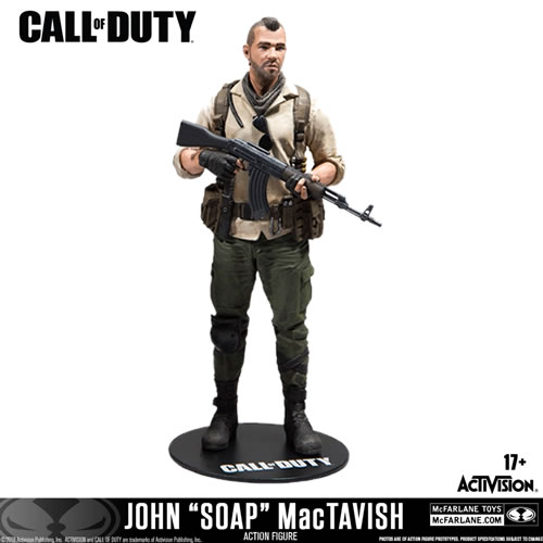 "Call of Duty Figures - 7"" Scale John ""Soap"" MacTavish"