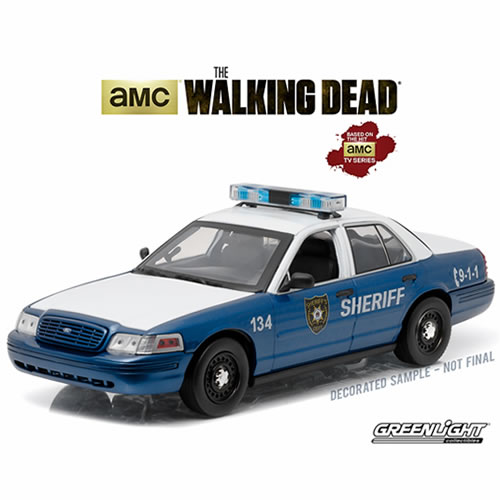 1:18 Diecast - The Walking Dead - Rick and Shane?s 2001 Ford Crown Victoria Police Interceptor