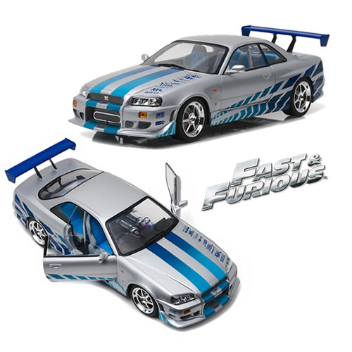 1:18 Scale Diecast - Artisan Collection - Fast & Furious - 2 Fast 2 Furious (2003) - 1999 Nissan Skyline GT-R (R34)