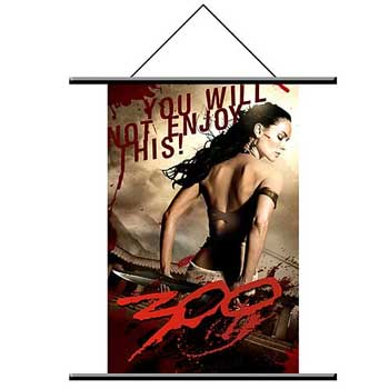 "300 Wall Scroll #2 - ""You Will Not Enjoy This"""