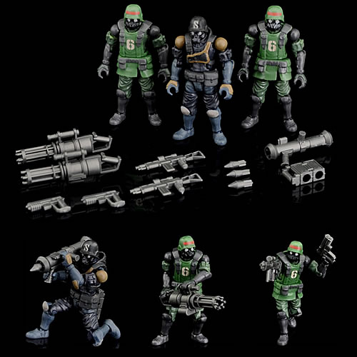 Acid Rain Figures - B2Five K6 Jungle Soldier Set