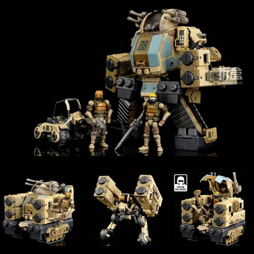 Acid Rain Figures - B2Five 88th Sand Dlx Set