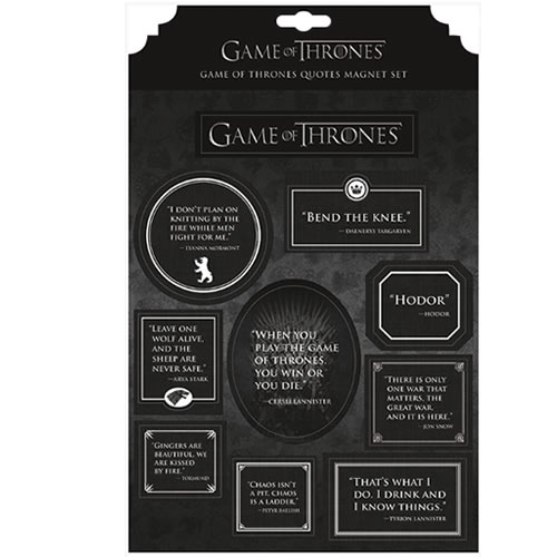 Game Of Thrones Accessories - Quotes Magnet Sheet