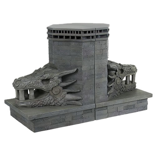 Bookends - Game Of Thrones - Dragonstone Gate Dragon Bookends