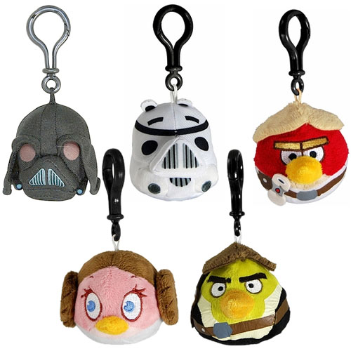 Angry Birds Star Wars Plush - Backpack Clips Assortment