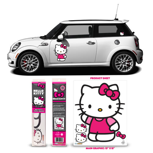 Automotive Graphics - Hello Kitty - Pink Waving