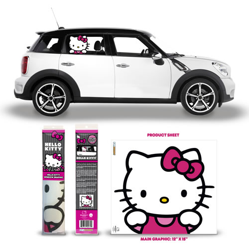 Automotive Graphics - Hello Kitty - Passenger Series Window Decal