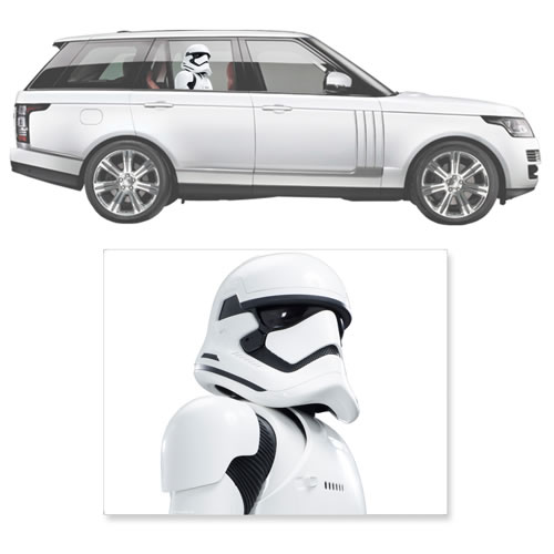 Automotive Graphics - Star Wars - 1st Order Stormtrooper Passenger Series Window Decal