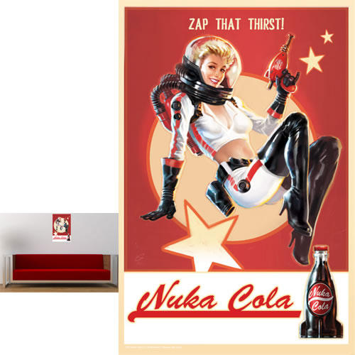 Fallout 4 Metal Sign - Vintage Pin-Up Nuka Cola