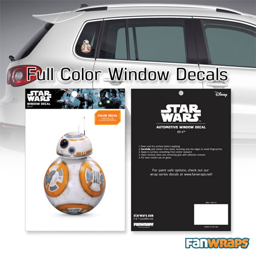 Automotive Graphics - Star Wars - BB-8 Window Decal