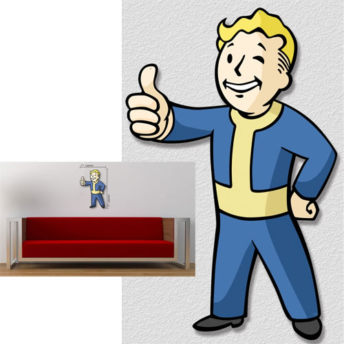 Fallout 4 Metal Sign - Die-Cut Vault Boy