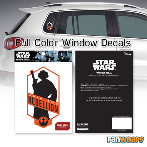"Automotive Graphics - Star Wars - ""Join the Rebellion"" Princess Leia Window Decal"