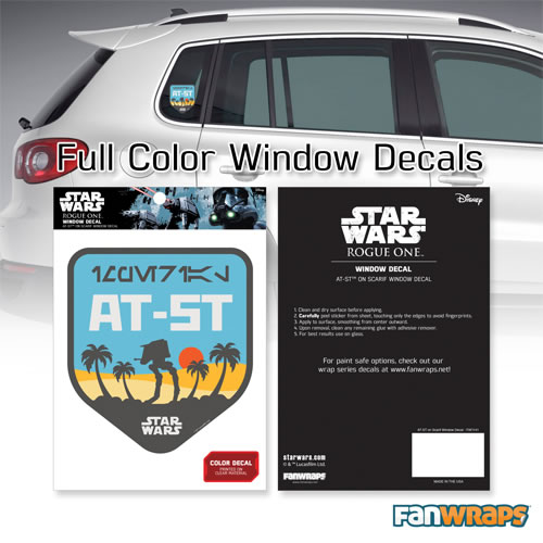 Automotive Graphics - Star Wars - AT-ST on Scarif Badge Window Decal