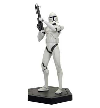 Star Wars CW Maquette - White Clone Trooper