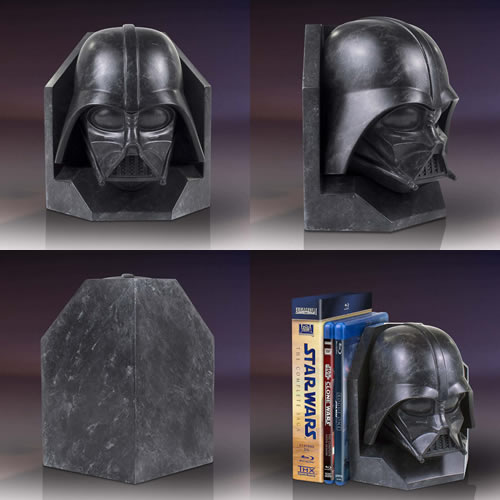 Bookends - Star Wars - Darth Vader Stoneworks Faux Marble Bookend