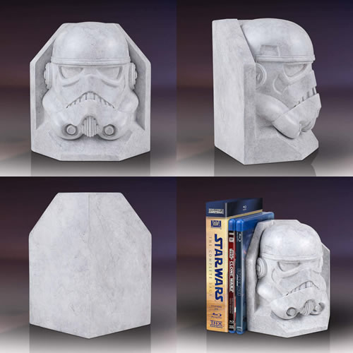 Bookends - Star Wars - Stormtrooper Stoneworks Faux Marble Bookend