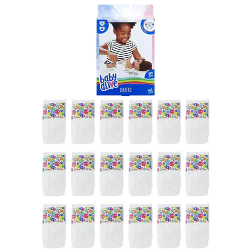 Baby Alive Dolls - 18pc Diapers Refill Pack - 0000
