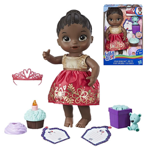 Baby Alive Dolls - Cupcake Birthday Baby (African American) - AX00