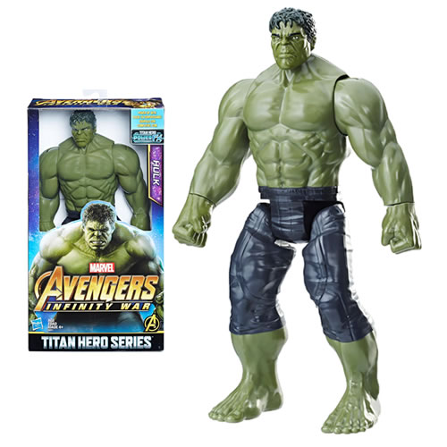 "Avengers 3 Infinity War Movie Figures - 12"" Titan Hero Series Hulk w/ Power FX Port - AS00"