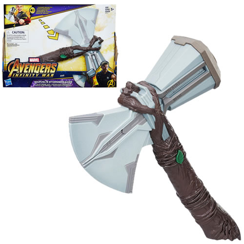 Avengers 3 Infinity War Movie Roleplay - Marvel?s Stormbreaker Electronic Axe - AS00