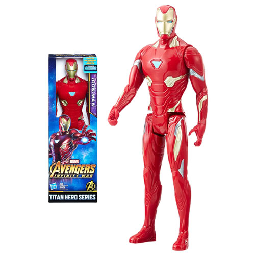 "Avengers 3 Infinity War Movie Figures - 12"" Titan Hero Series Iron-Man w/ Power FX Port - AX00"