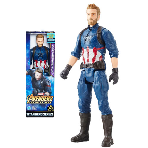 "Avengers 3 Infinity War Movie Figures - 12"" Titan Hero Series Captain America w/ Power FX Port - AX00"