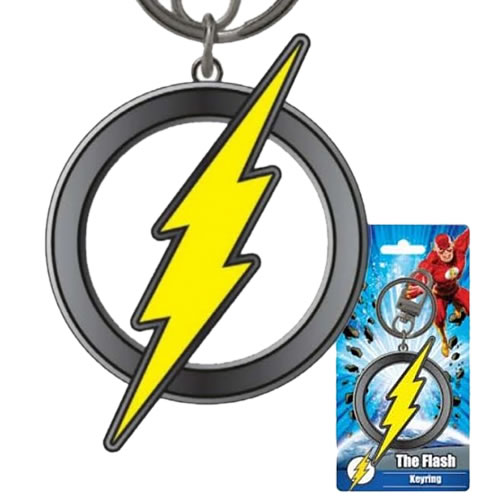 DC Keychains - Pewter Colored Flash Logo