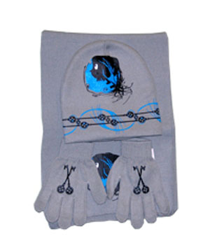 "Coraline Hat Glove Set - ""Blue Key"""