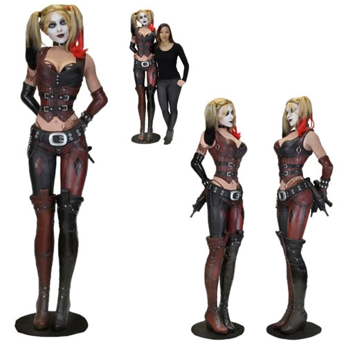 9de971ec1cf3 Batman Arkham City Figures - 1 1 Scale Life Size Arkham City Harley Quinn  Foam Replica