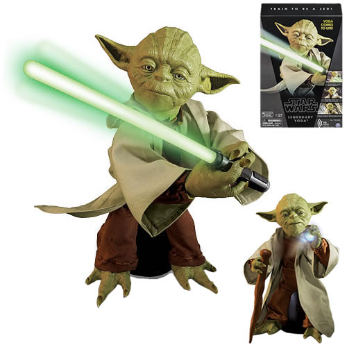 "Star Wars Legendary Yoda Train To Be A Jedi 16/"" Interactive Figure NEW IN BOX"