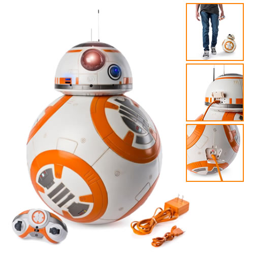 Star Wars Figures - SW Ep VIII The Last Jedi - Hero Droid BB-8 Fully Interactive Droid