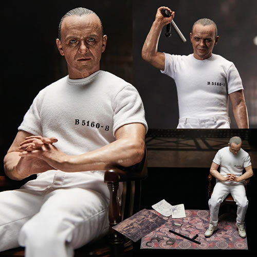 The Silence Of The Lambs Figures - 1/6 Scale Hannibal Lecter (White Prison Uniform Version)