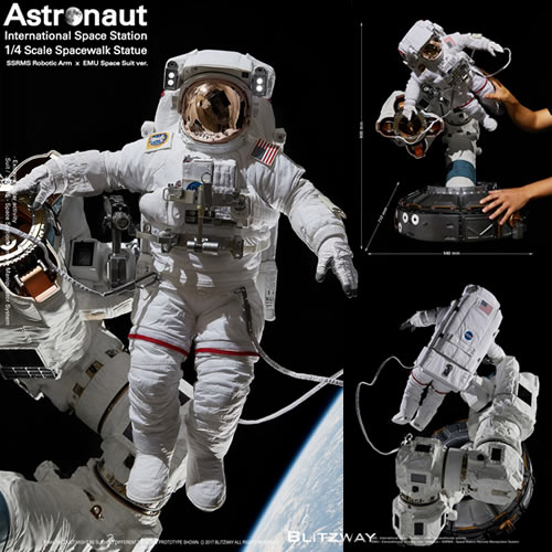 The Real Statues - 1/4 Scale Astronaut (ISS EMU ver.) Statue