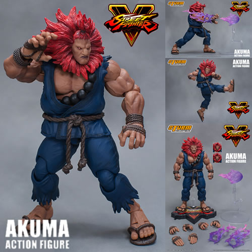Street Fighter Figures - 1/12 Scale Street Fighter V Akuma