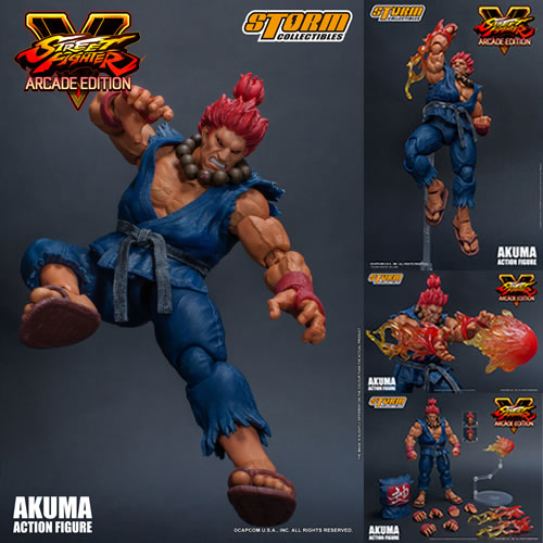 Street Fighter Figures - 1/12 Scale Street Fighter V Akuma (Nostalgia Costume)