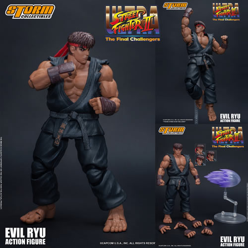 Street Fighter Figures - 1/12 Scale USFII:The Final Challengers Evil Ryu