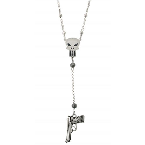Marvel Necklace - The Punisher Gun Charm Necklace