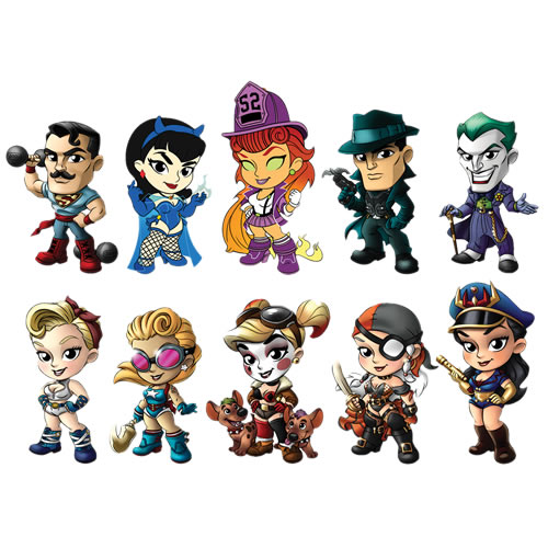 DC Comic's Bombshells Vinyl Figures - 12pc 'Lil Sirens Mini Vinyl Figures Series 3 Display