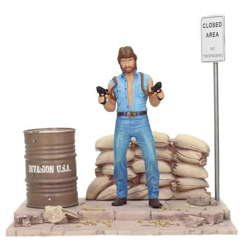 Movie Icons Figures - Invasion USA - Matt Hunter w/ Diorama