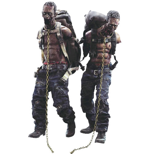 The Walking Dead Figures - 1/6 Scale Michonnes Pet Walker Twin Pack