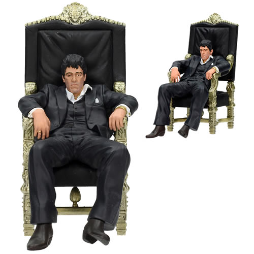 "Movie Icons Figures - Scarface - 7"" Tony Montana w/ Throne"