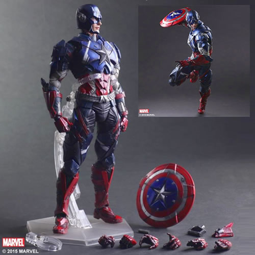 Marvel Universe Variant Play Arts Kai Figures - Captain America