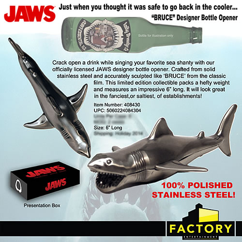 Jaws Bottle Opener - Bruce Designer Bottle Opener