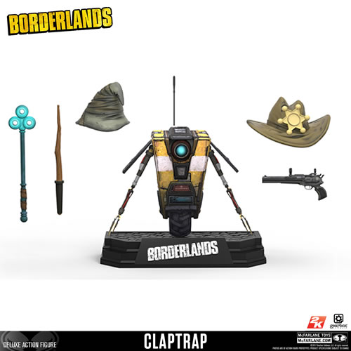 "Borderlands Figures - 7"" Scale Claptrap Deluxe Box Figure"