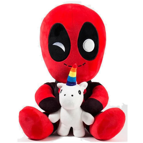 "HugMe Plush - Marvel - 16"" Deadpool w/ Unicorn"