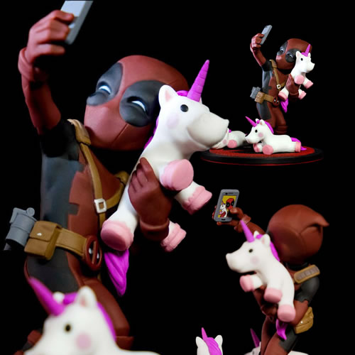 Q-FIG Figures - Marvel - Deadpool #unicornselfie Diorama