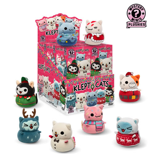 Mystery Minis Plushies - Kleptocats - Holiday - 12pc Assorted Display