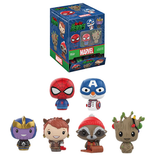Pint Size Heroes Vinyl Figures - Marvel - Holiday - 24pc Assorted Blind Bags Display