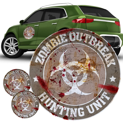 Automotive Graphics - Zombie - Zombie Hunting Unit Gray