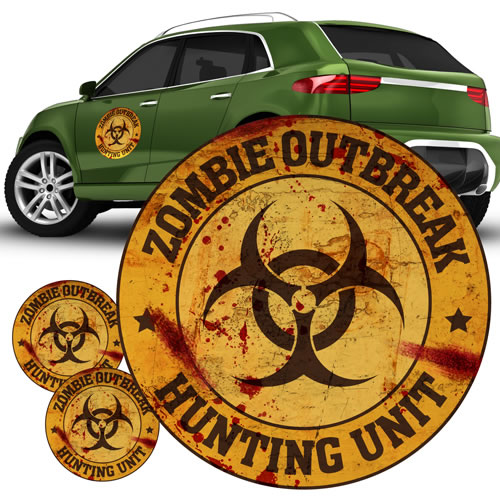 Automotive Graphics - Zombie - Zombie Hunting Unit Orange